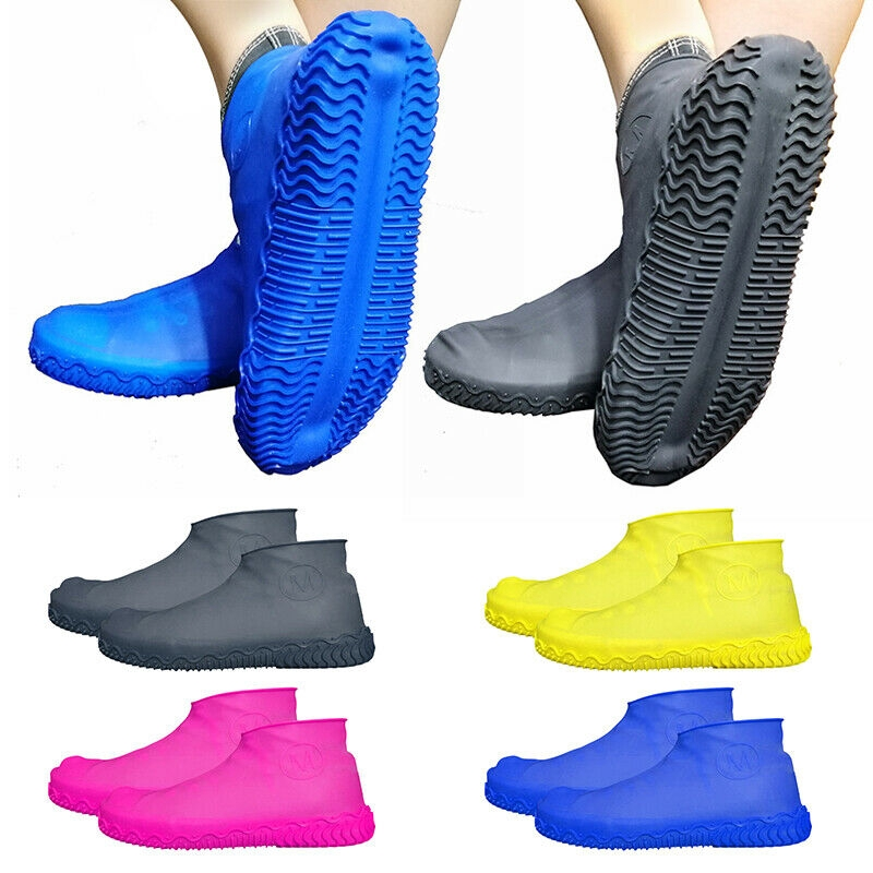 Silicone Overshoes Rain Waterproof Shoe Covers Black M