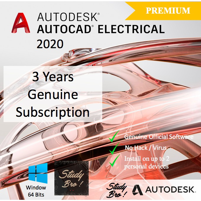 [Genuine] Autodesk AutoCAD Electrical 2020 3 Years Windows 32/64-Bit Edu  License