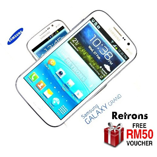 🇲🇾 Ori Samsung Grand Duos Dual Sim i9082 [8GB + 1GB RAM] [1 Month Warranty] FREE RM50 Voucher