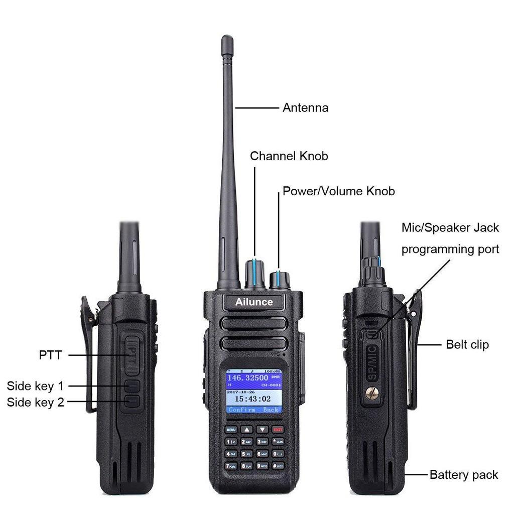 2pcs Original Ailunce HD1 2-Way Radio/'S Li-ion Battery Pack 3200mAh US Stock