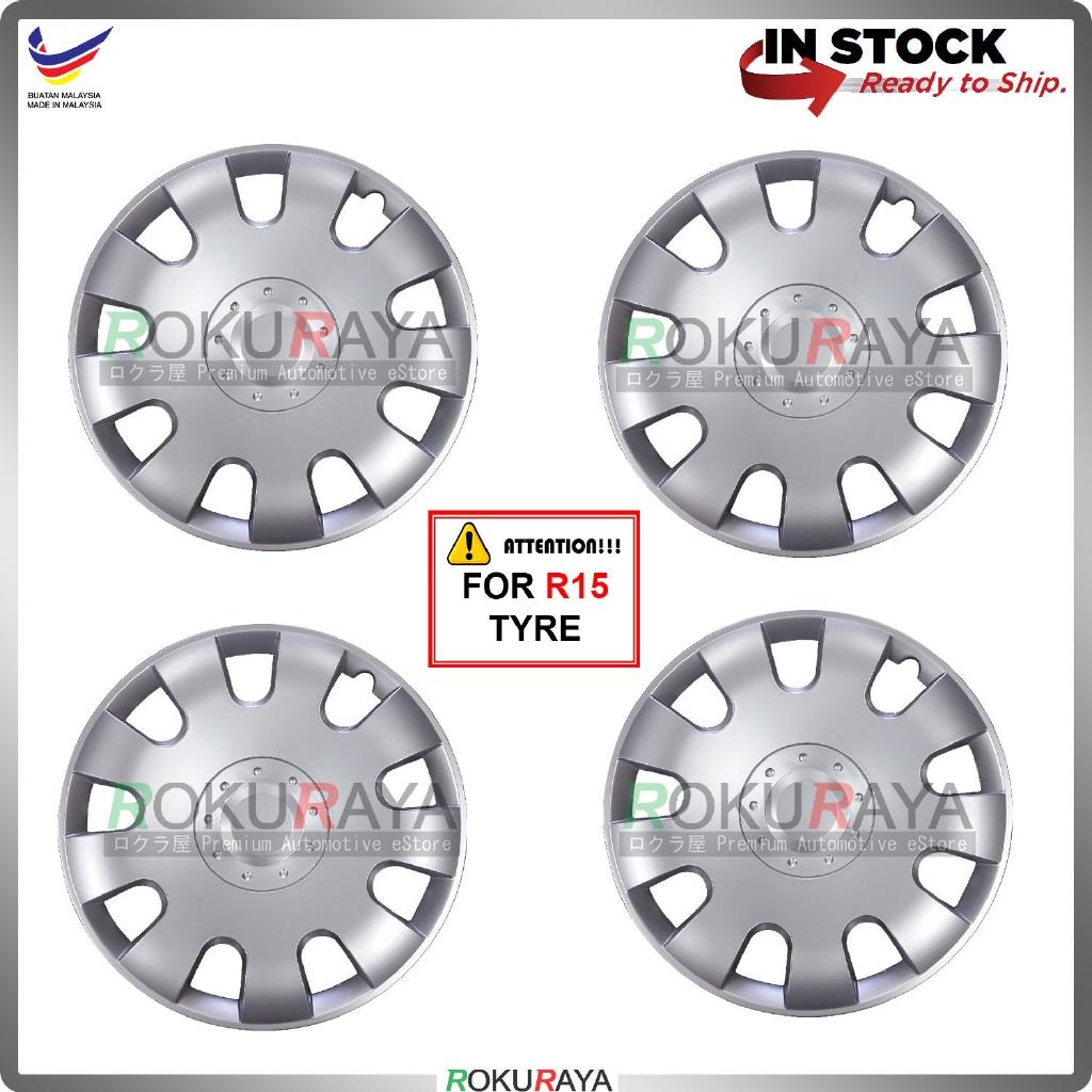 Universal R15'' Inch Car Wheel Cover Tyre Center Hub Cap Steel Rim (Persona Exora Design)