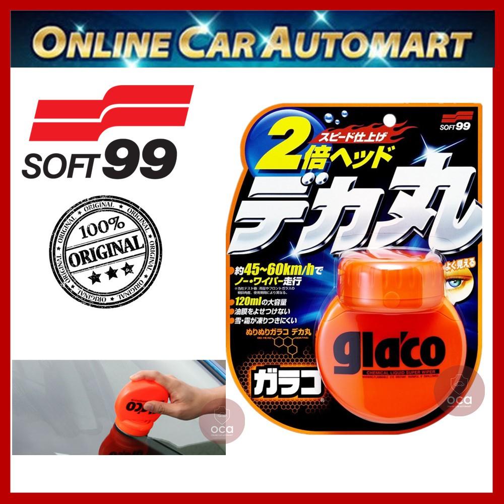( Free Gift ) Soft 99 / Soft99 Glaco Roll On Big Water Repellant Liquid Super Wiper 120ML Glass Coating / Rain X