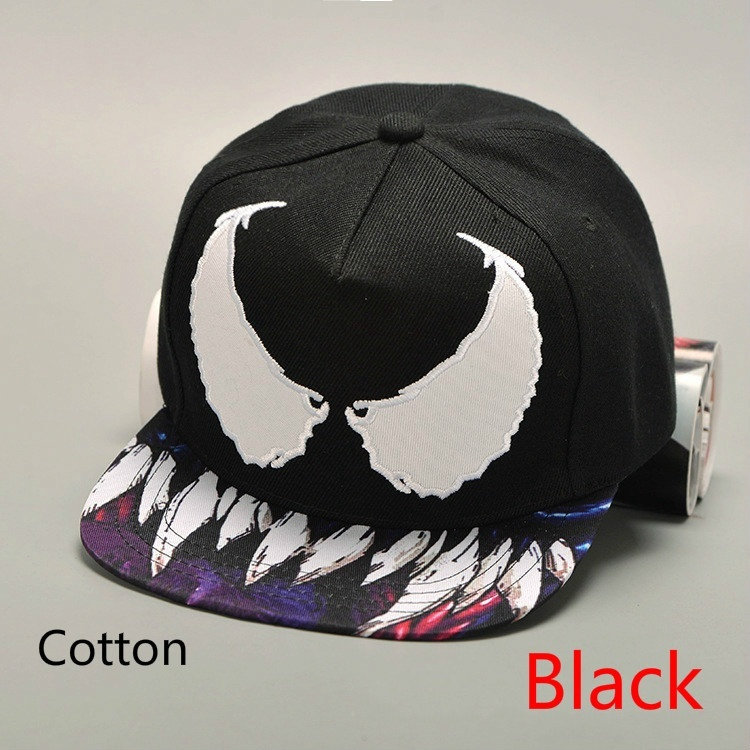 f1581358b8b6e4 Fashion Venom Baseball Cap Adjustable Snapback Hat Unisex Hip Hop Leather  Cap