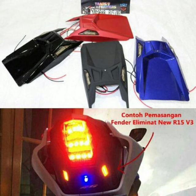 Fenderless Undertail Tail Eliminator Ekor with Signal for Yamaha R15 V3