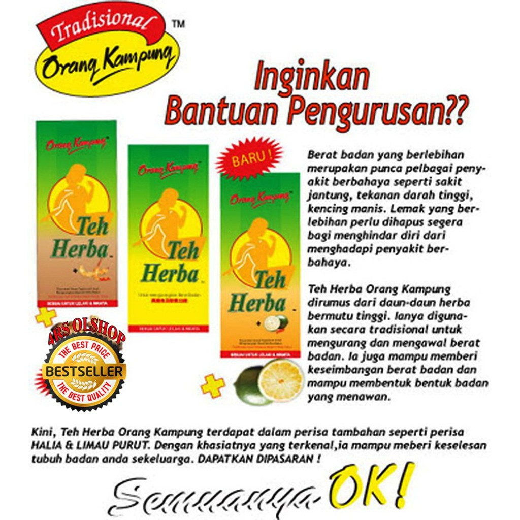 Image result for teh herba orang kg