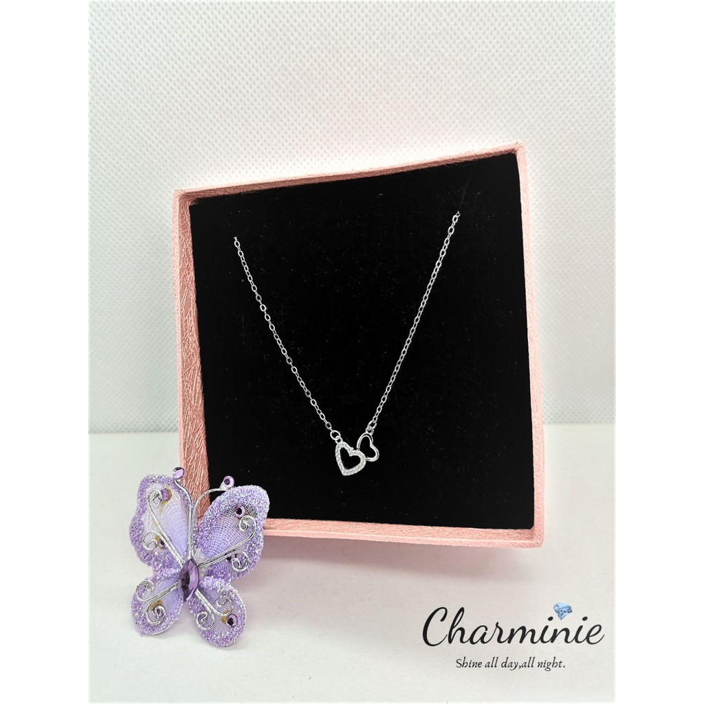 Pure Sliver 925 Love necklace (Sliver plated Platinum)-Charminie