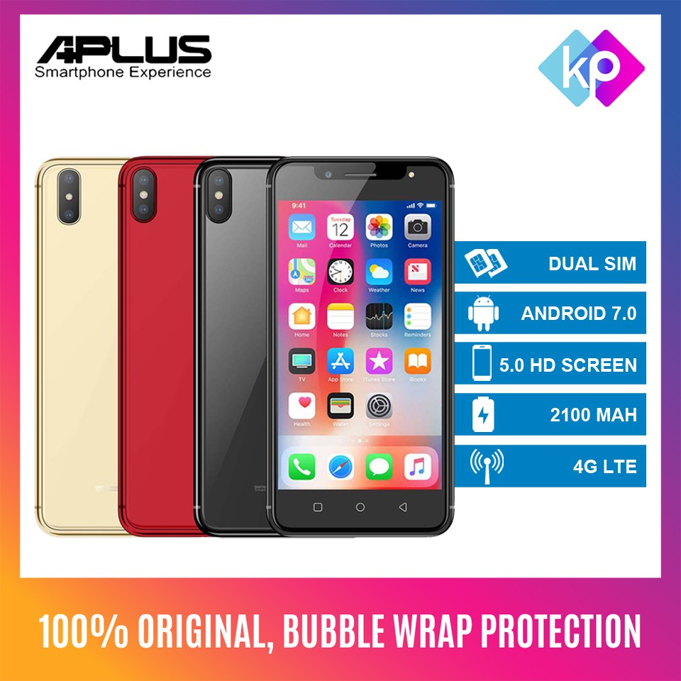 Aplus Y12 5 0'' HD Screen 4G LTE Android 7 0 1GB+16GB (Black/Gold/Red)