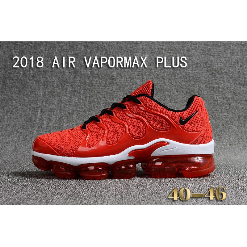 sports shoes 859be 239ab original nike air max 2018 vapormax plus all red sport running shoes size  40-46