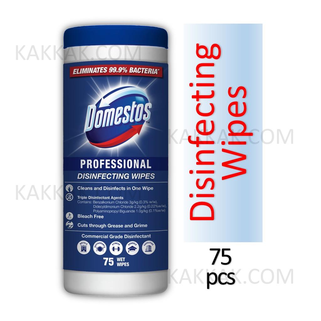DOMESTOS Professional Disinfecting Wipes 75pcs