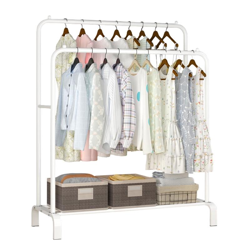NaVa Double Pole Strong Steel Structure Laundry Rack Cloth Organizer Cloth Hanger Rak Baju
