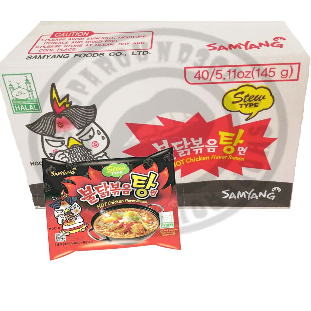 Samyang Hot Chicken Ramen Halal 1beg 700g Ready Stock Curry Logo Shopee Malaysia