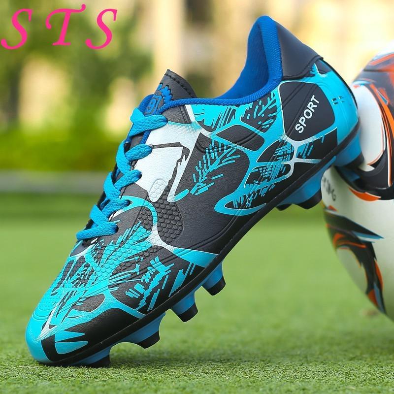 EU Size 31-43 Children Football Shoes Outdoor FG Soccer Shoes Kasut Bola  Sepak