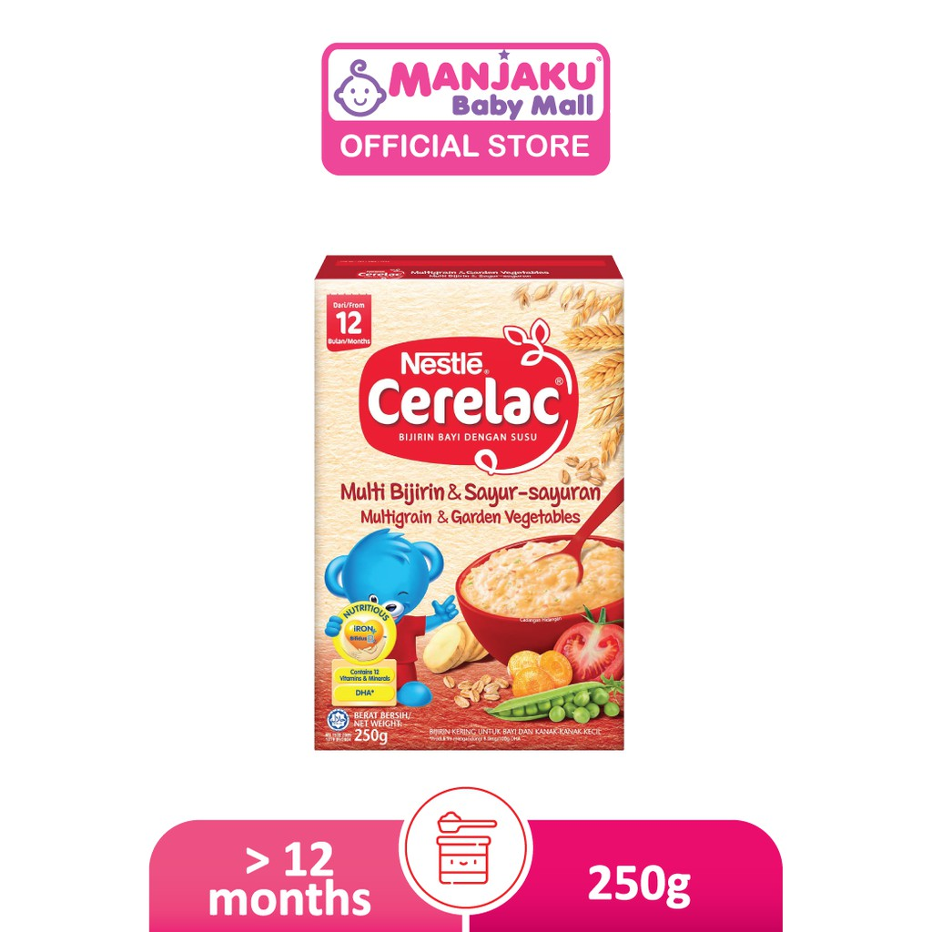 Nestle Cerelac Infant Cereals with Milk Multigrain & Garden Vegetables (250g)