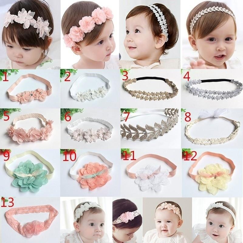 1pc Baby Girls Toddler Lace Flower Headband Accessories Hair Band Headwear Kids