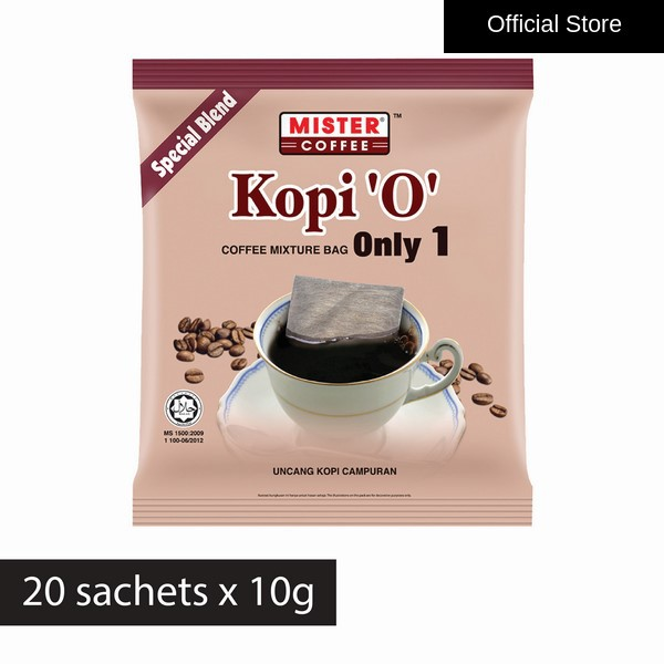 [Mister Coffee]  Kopi 'O' Coffee Bag Only 1 Special Blend (10g x 20's)