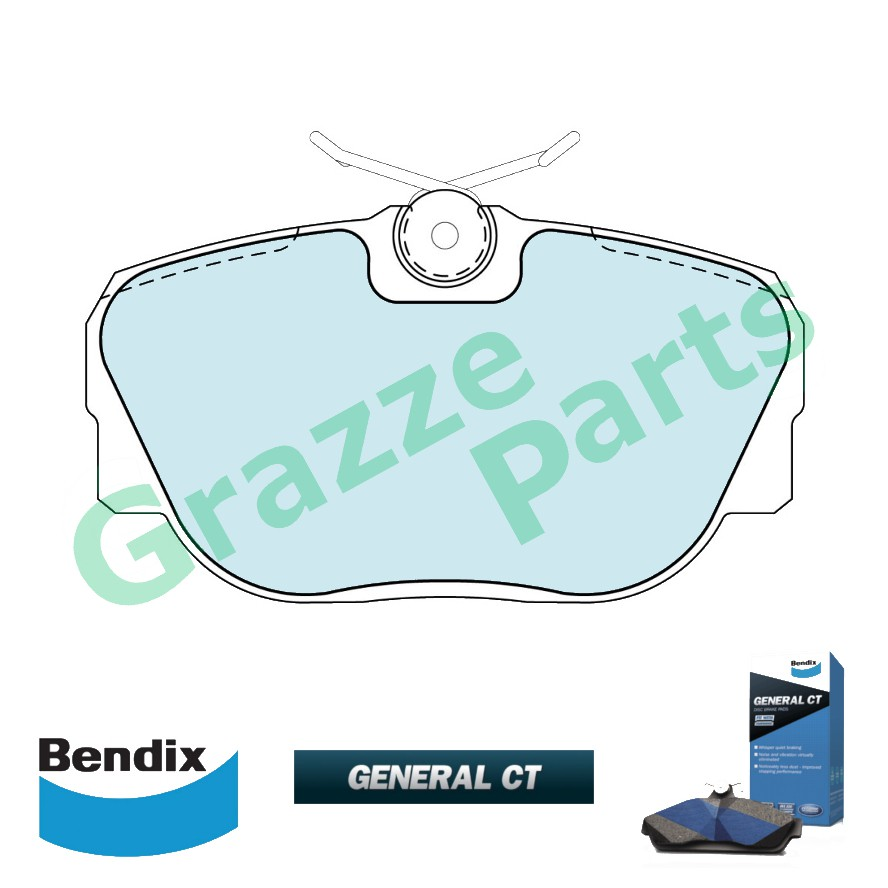 Bendix General CT Disc Brake Pad Front for DB1130 Landrover Discovery ES V8 4.0 1989-2002