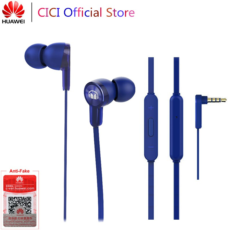 Original Huawei Honor Monster Earphone AM15 3 5mm In-Ear with Remote and  Microphone Wire Control For Honor 8X 9 10 Lite