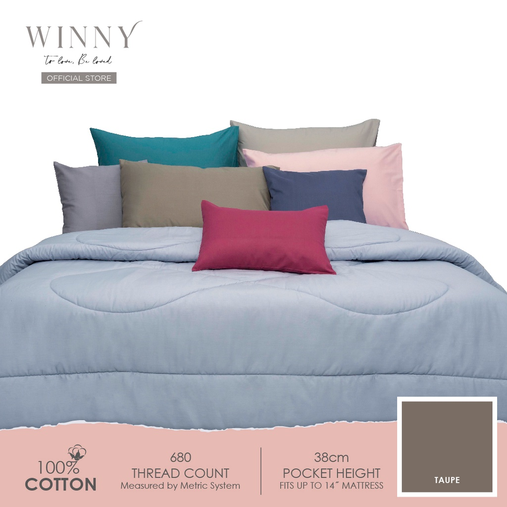 Winny Buoyant Fitted Sheet Set-680 TC (SUPER SINGLE/QUEEN/KING)-COTTON
