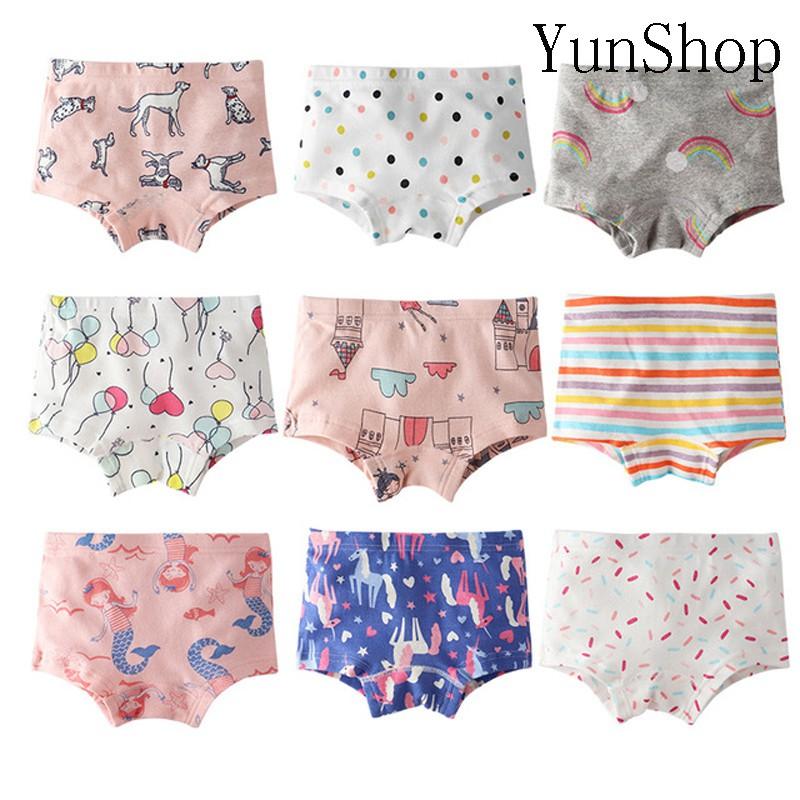 Girls Kids Children 3 Pack Cotton Briefs Underwear Underpants Age 1.5-4 Years