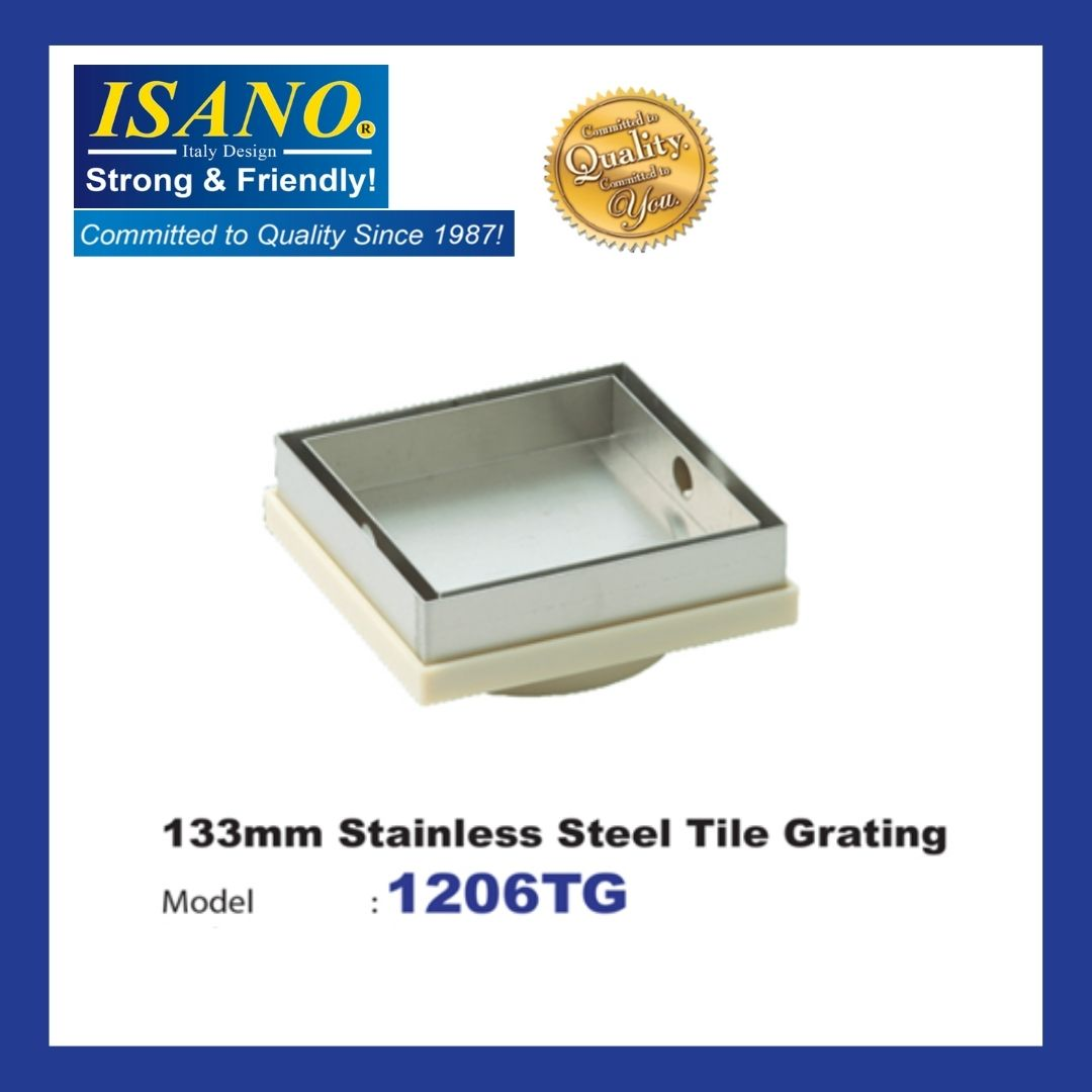 ISANO 1206TG CONCEALED FLOOR GRATING TILES WATER FILTER SQUARE FLOOR DRAIN