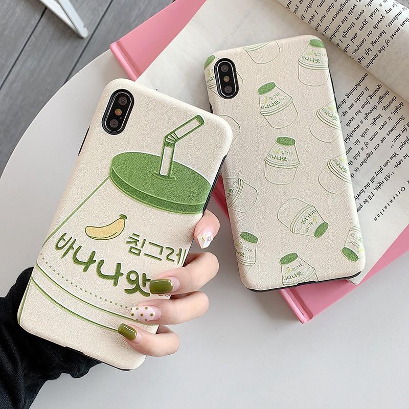 Casing Huawei P30 P20 Mate20 Pro Honor 8X Nova 4 3i 4e Banana Milk Matte  Case