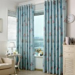 GDeal【Thick Curtains】 Cute Cartoon Owl Printed High Shading Bedroom Living Room Window Blackout Curtain Drape Langsir