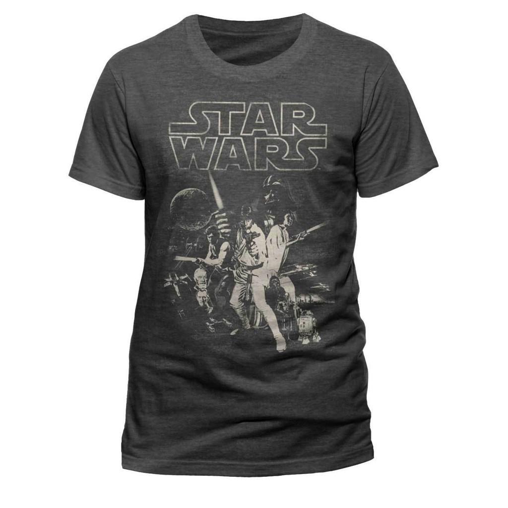 Official Star Wars Luke Skywalker Retro Women/'s T-Shirt Darth Vader Movie Merch