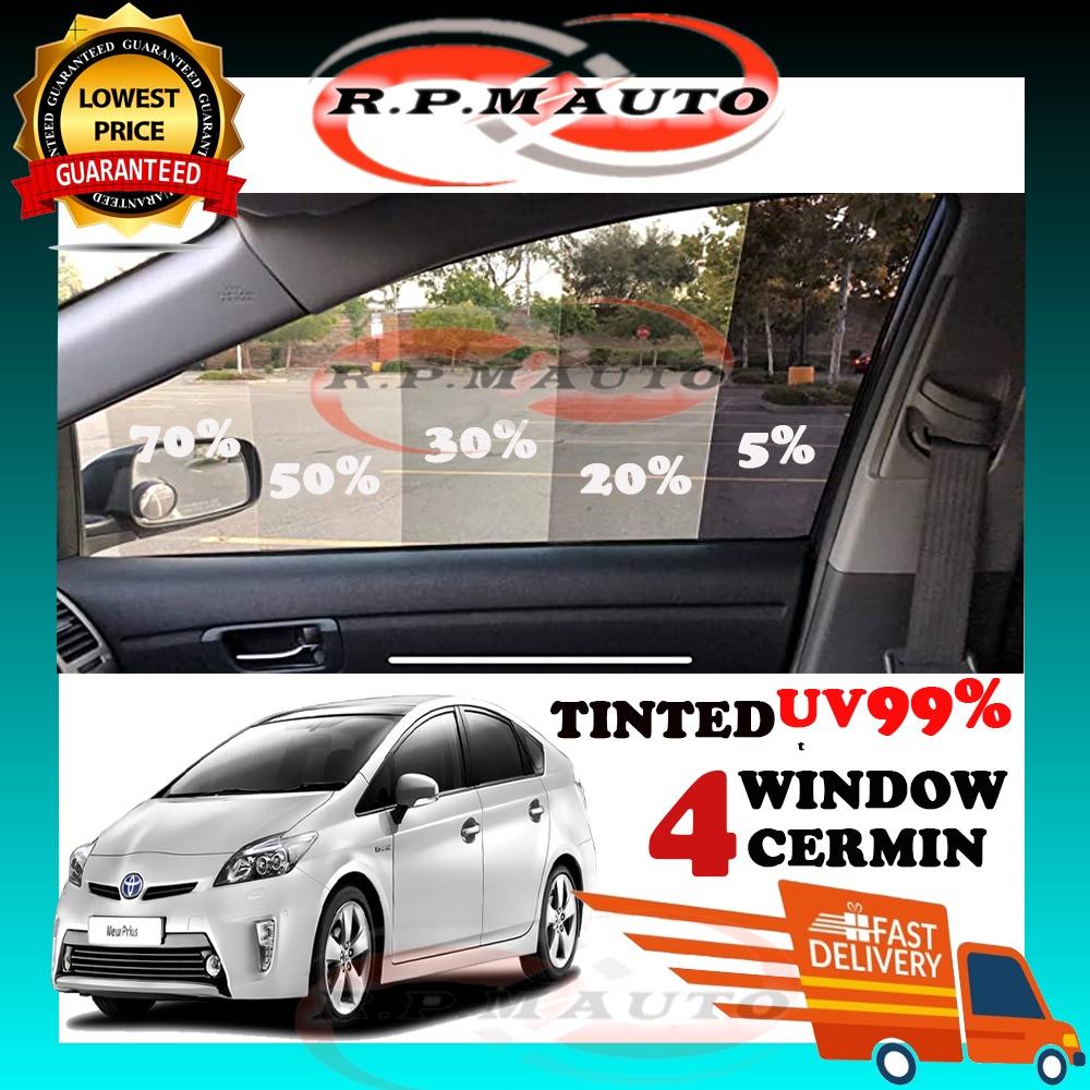 UV99% TINTED Toyota Prius Black hitam Tinted 4Door Siap Potong tinted kereta tinted Pruis hitam
