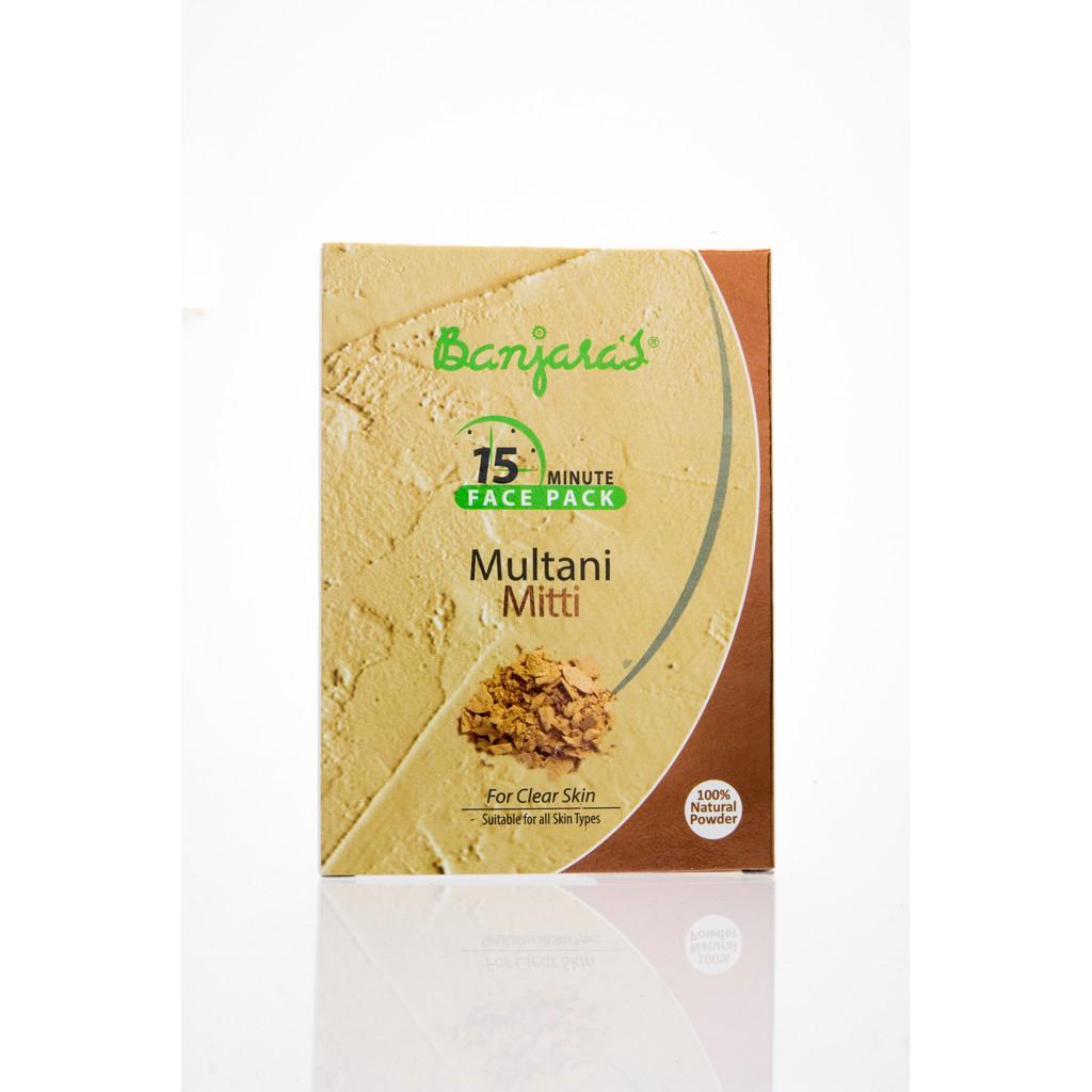 118814761 Banjaras 15 Minute Face Pack Powder Mutani Aloevera | Shopee Malaysia