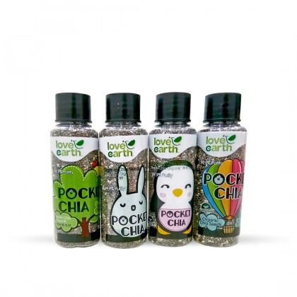Love Earth Organic Pocket Chia (4 in 1) 28gx4 乐儿有机口袋奇亚瓶 28公克 x 4瓶 (小瓶装)