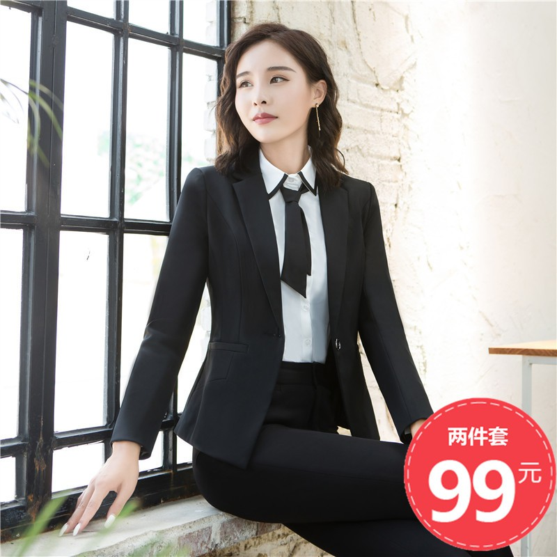 6da0d1aa2c Professional overalls suit women suit suit autumn and winter new  temperament Slim ol trousers dress three-piece suit | Shopee Malaysia