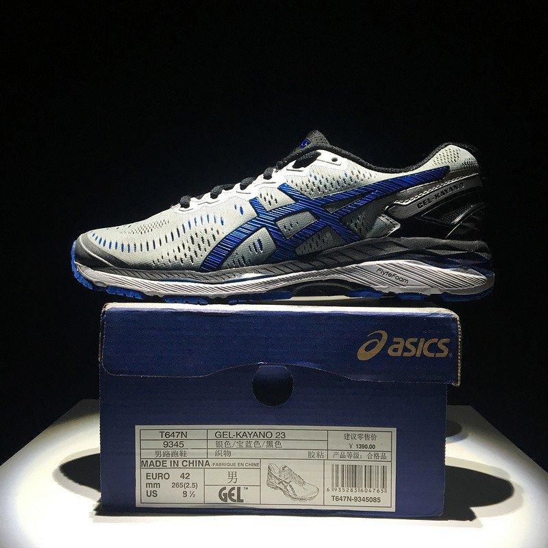 half off 2de07 d724a ASICS/亚瑟士 GEL-KAYANO 23 T647N grey blue mens sport mesh knit training shoe  40-45