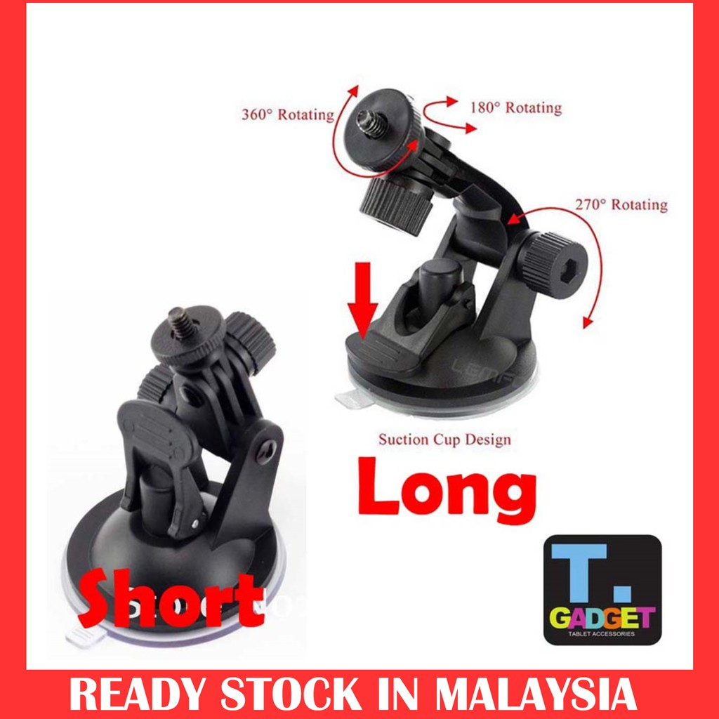 Xiaoyi and Other Action Cameras ST-72 9cm Diameter Car Window Plastic Cup Suction Mount Black Reliable Tripod Holder Gadget For GoPro NEW HERO //HERO6 //5 //5 Session //4 Session //4 //3+ //3 //2 //1
