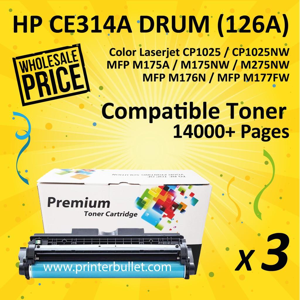 3 unit HP 126A / CE314A / CE314 High Quality Compatible Imaging Drum