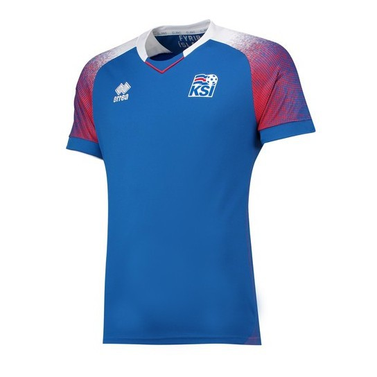 best sneakers 74335 5a4ba High Quality Iceland 2018 World Cup Home Soccer Football Jersey 100%  Polyester