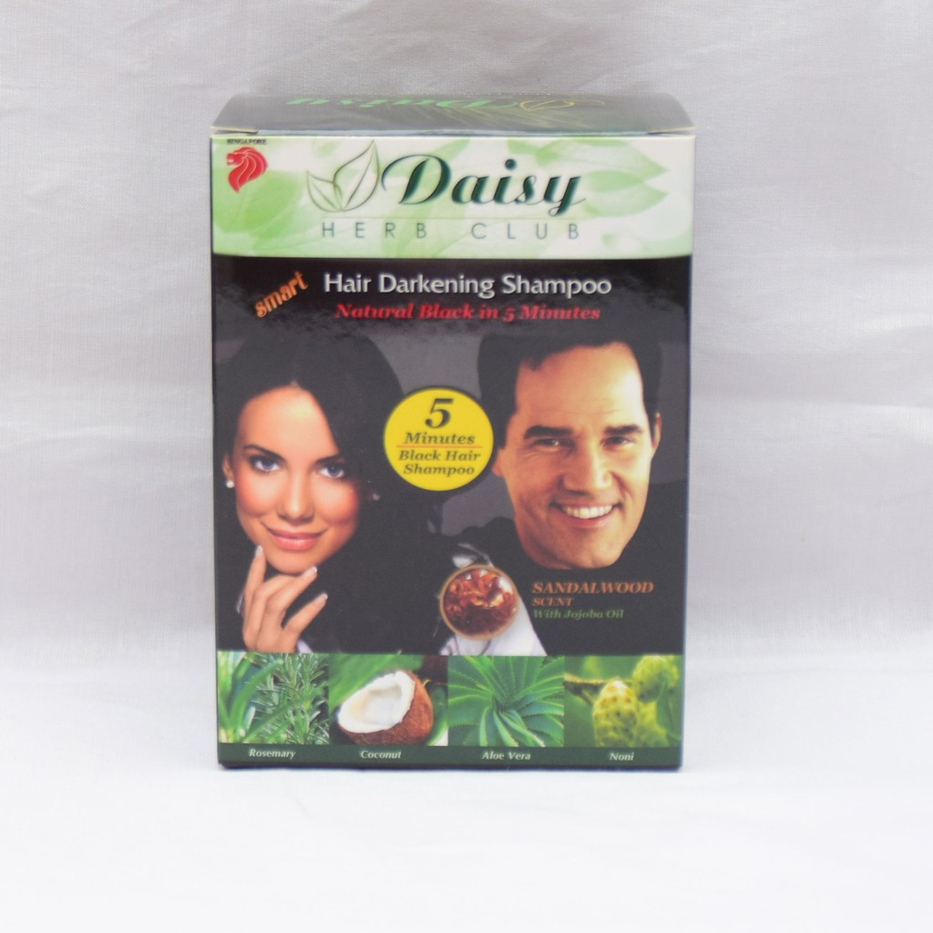 Daisy Herb Club Hair Color Black/Brown Set of 10 Packets
