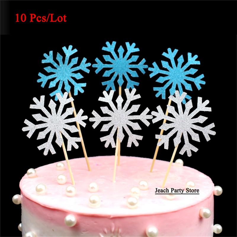 Groovy Snowflake Cake Topper Birthday Party Accessories Flag Toothpicks Birthday Cards Printable Giouspongecafe Filternl