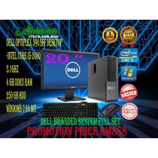 REFURBISHED)Dell Optiplex 390 SFF Desktop Full Set Dell Brand