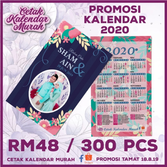 The 35 Best Wedding Gifts Of 2020: Kalendar Poket 2020 / Name Card / Business Card / Kad Nama