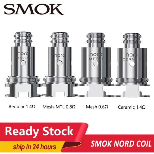 ⚡READY STOCK⚡ Smok Nord/Trinity Alpha Replacement Occ Regular/Ceramic  1 4ohm/0 6ohm/0 8ohm Mesh Coils For Pod Cartridge