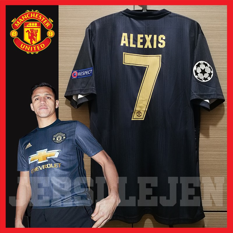 best loved cd8e6 765ce [ FREE POSTAGE ] [ READY STOCK ] MANCHESTER UNITED 3rd Kit Jersey Champions  League ALEXIS Sanchez 7 Size L