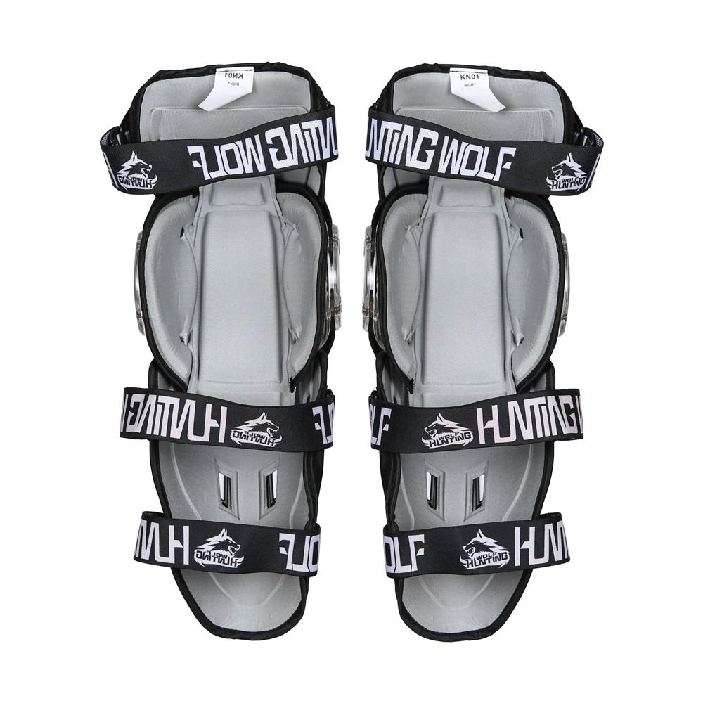 Huntingwolf Racing Knee Shin Elbow Guards Motorcycle Motocross Protective Gear