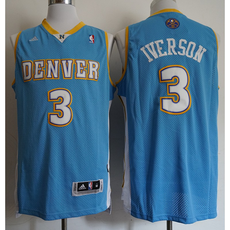 lowest price c9487 108e2 Nike Nike 76ers 3 Iverson jersey Ai Iverson Iverson embroidery basketball  unifor
