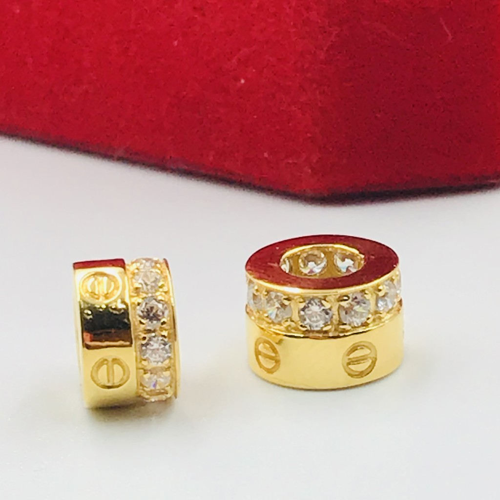 Masdora Emas ~ Screw Mark Bead/Pendant (Emas 916)