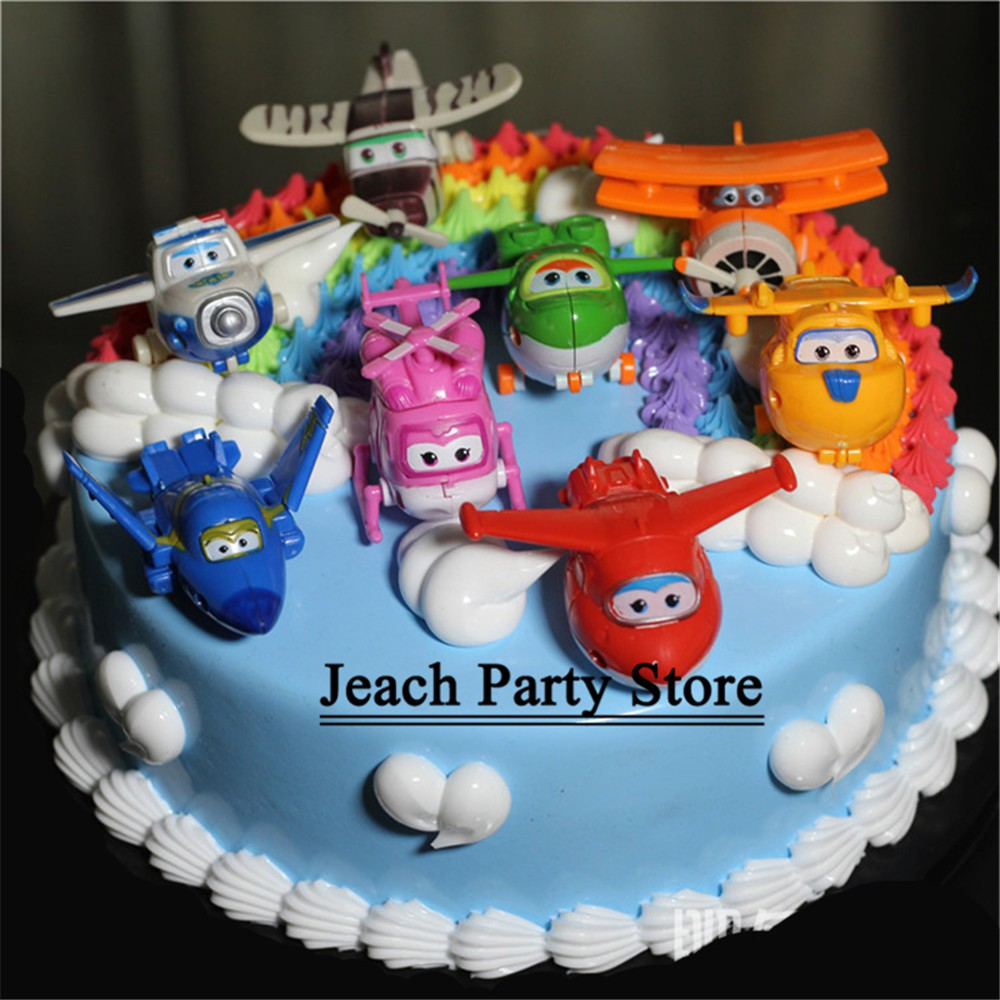 Stupendous Super Wings Toys Airplane Cake Topper Kids Children Baby Party Personalised Birthday Cards Epsylily Jamesorg