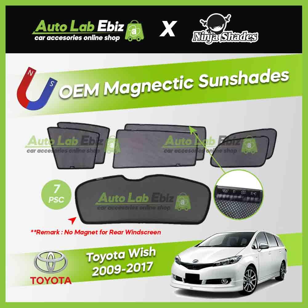 Toyota Wish 2009-2017 Ninja Shades OEM Magnetic Sunshade (7pcs)