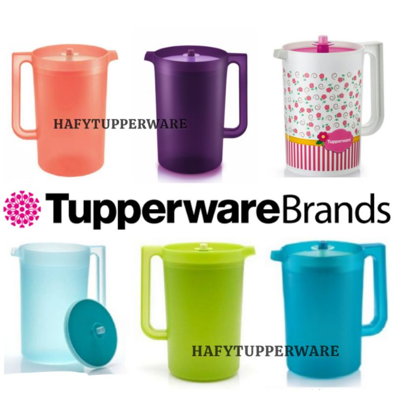 🔥READY STOCK🔥TUPPERWARE CORAL BLOOMS GIANT PITCHER 4.2L / Blossom Pitcher 2L/Mugs with seal (4) 350ml
