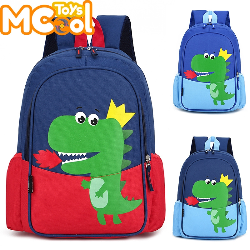 Cute Toddler Child Kids Baby Mini Backpack Cartoon Dinosaur School Bag with-Rein
