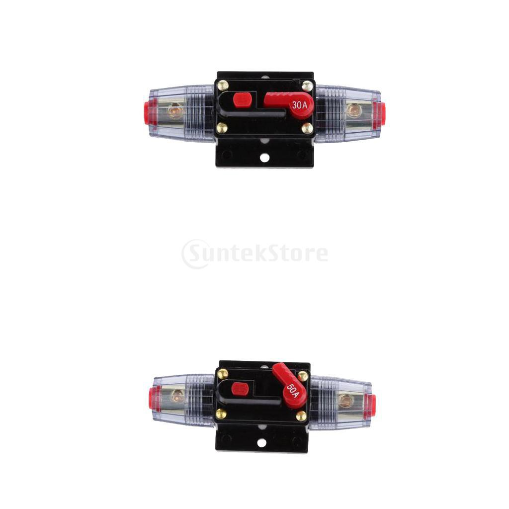 20 Amp Manual Reset Circuit Breaker Switch Car Boat Fuse Holder 12v Dc Audio 20amp Replace Waterproof Shopee Malaysia