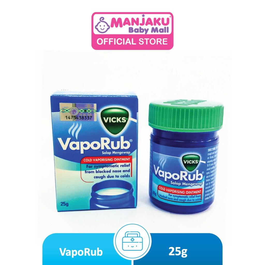 Vicks Vaporub (25g) - Vicks Inhaler (Model: PGVC025)